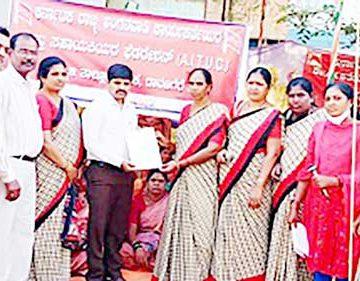 ಹೊನ್ನಾಳಿ : ರಾಜ್ಯ ಬಜೆಟ್ಗೆ ಖಂಡನೆ